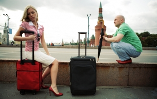 travellers  in Moscow